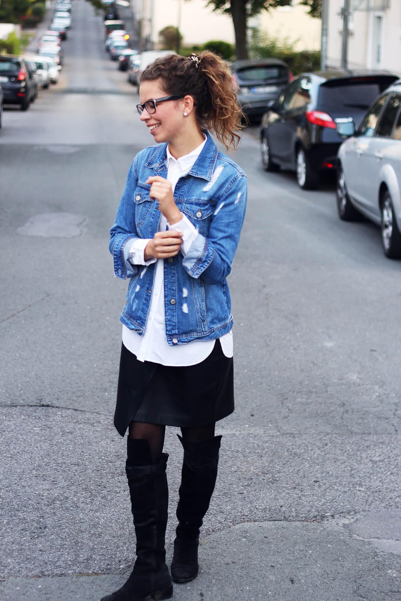 Jeans und Leder