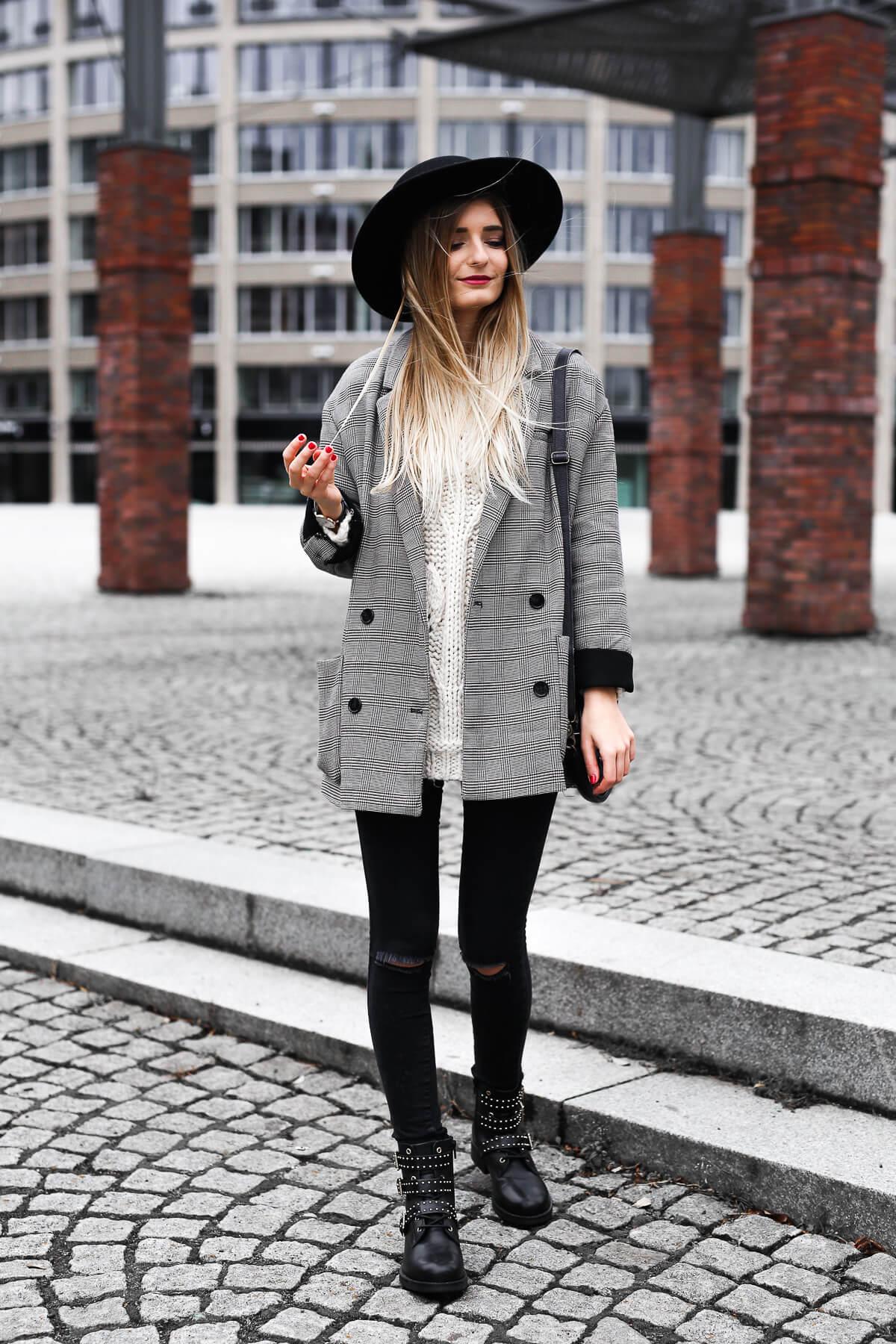 3 Boots Mantel Nieten Shoelove Karo Look By Deichmann Outfit fvygIYb76