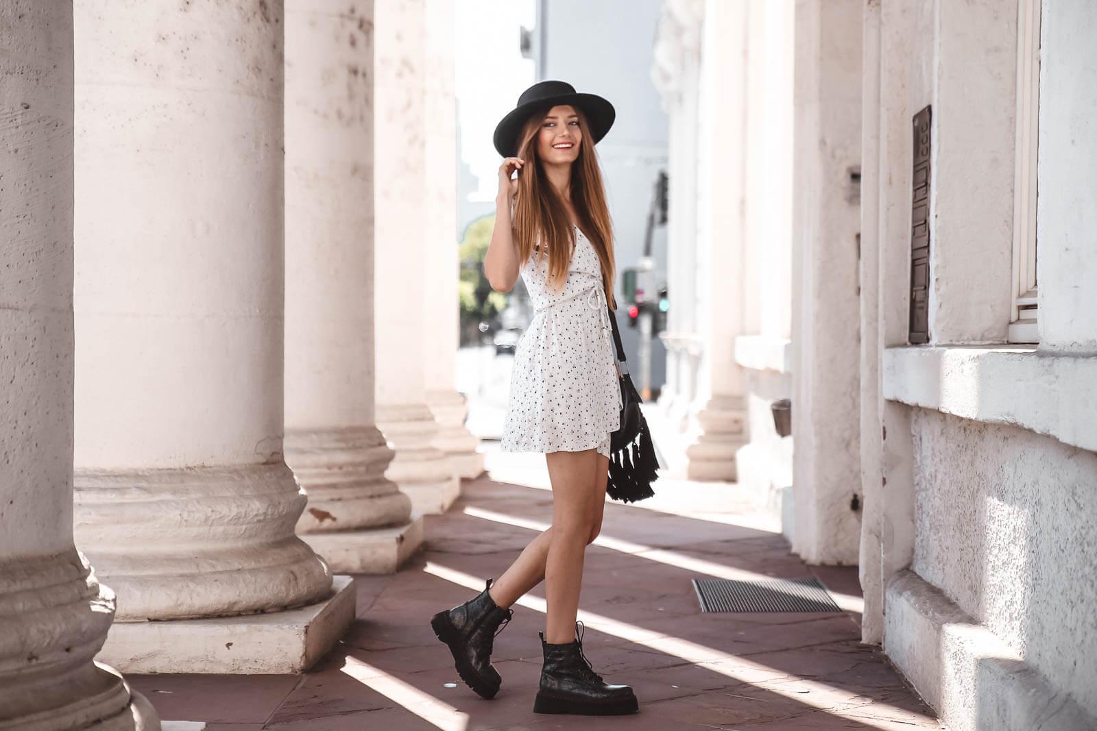 outfit mit boots und kleid: so gelingt euch der stilbruch