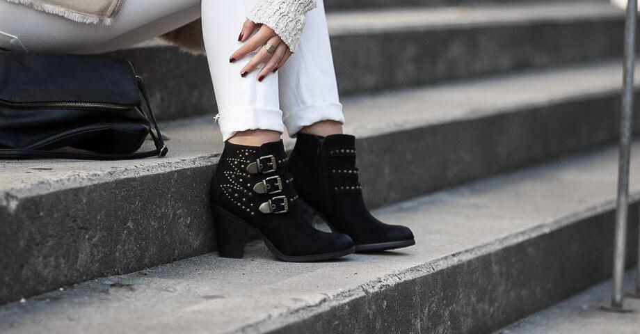 Genieße den kostenlosen Versand später heißer verkauf authentisch Stiefeletten mit Nieten kombinieren im Herbst - Shoelove by ...