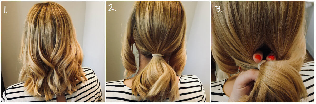 Updo Step 1-3
