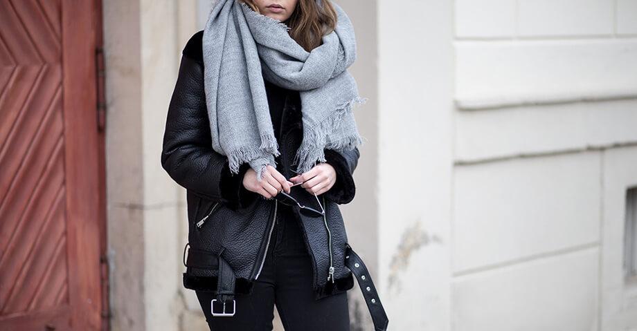 Outfit mit Shearling Jacke, Wintertrend, Trendblog by Deichmann