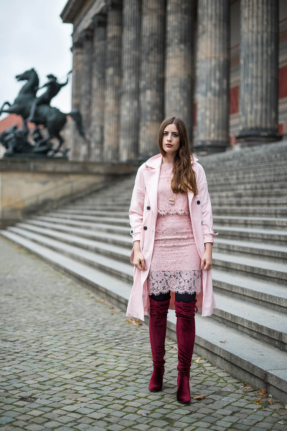 andysparkles-Outfit-Abendlook-Samt Overknee Stiefel