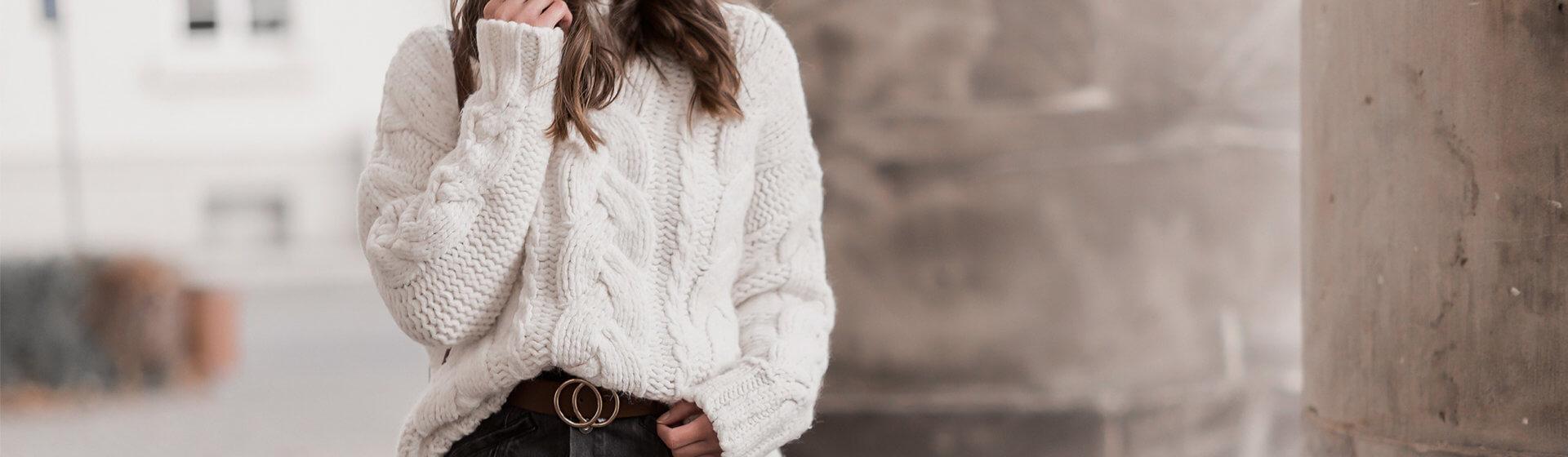 Chunky Knit stylen, So tragen wir Kuschelpullover im Winter, Shoelove by Deichmann