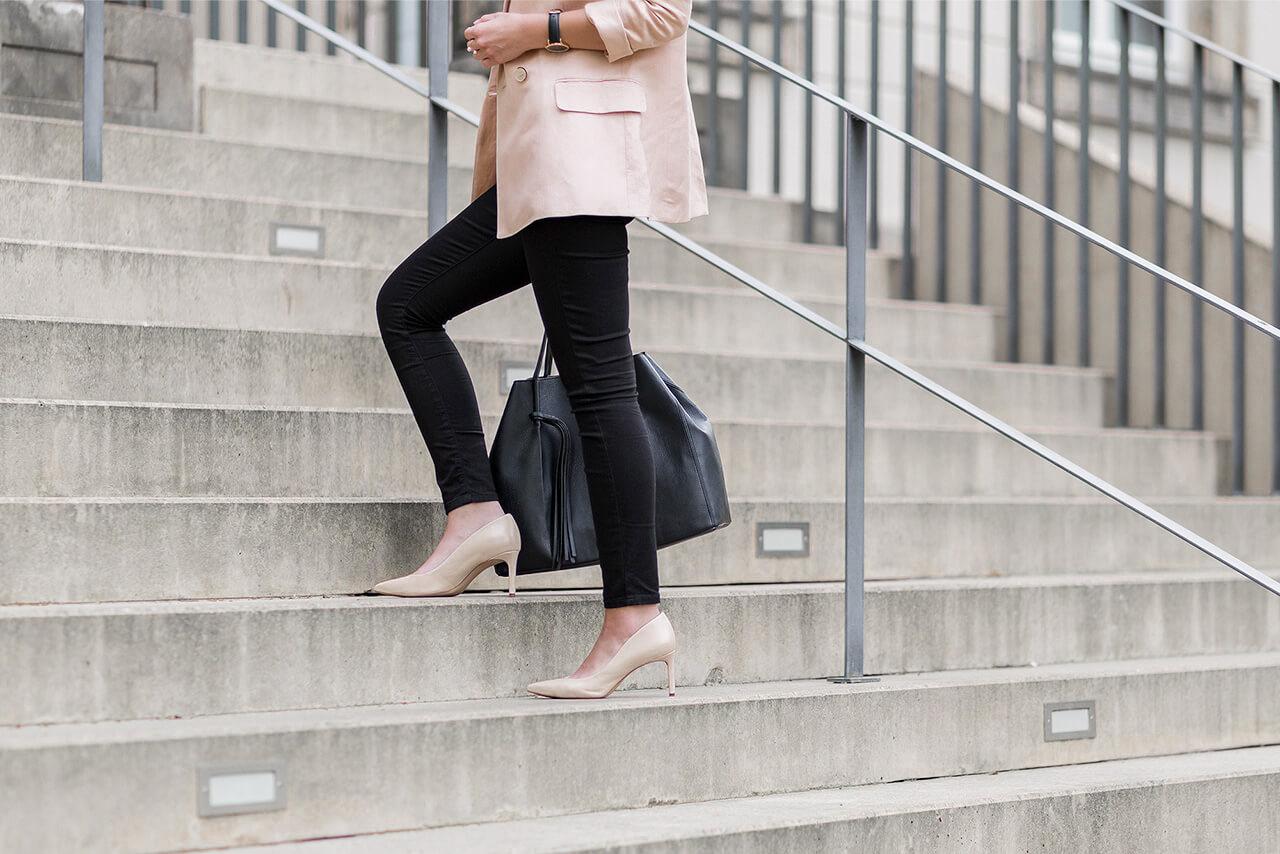 Frühlingshaftes Outfit für's Büro, Business Look mit Blazer, Shoelove by Deichmann