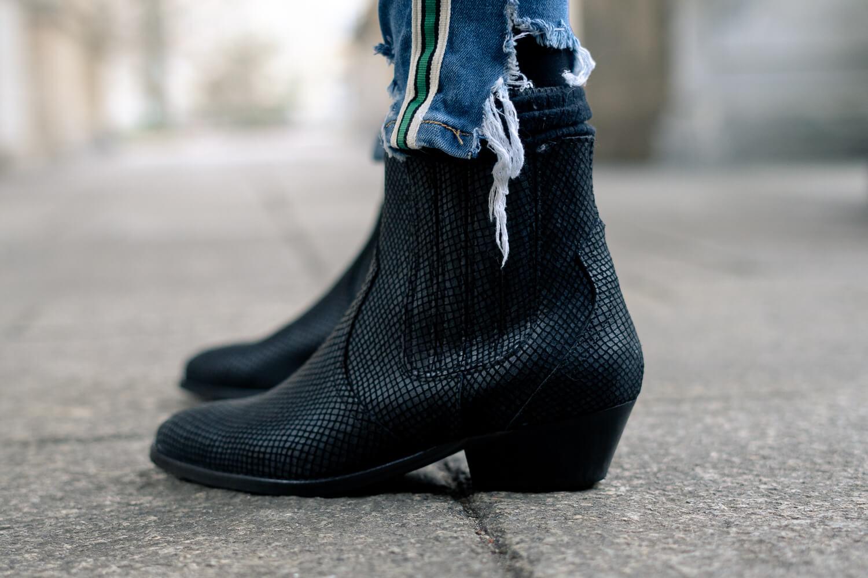 Off-Shoulder Pullover-Deichmann Ankle Boots-Winteroutfit mit Off-Shoulder Pullover-Shoelove by Deichmann-Modeblog andysparkles