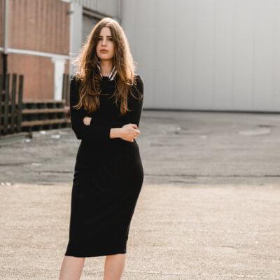 Puristische Look-skandinavischer Stil-Basics tragen-schwarze Loafer-Shoelove by Deichmann-andysparkles