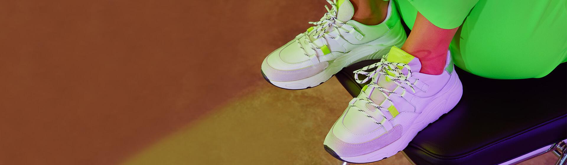 Schuhe Neonfarben