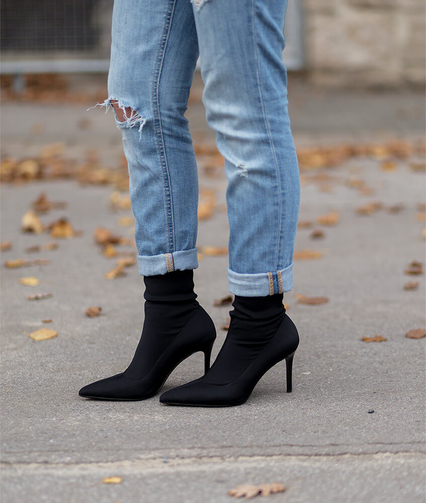 Sock Boots, Herbsttrend, Outfit, Shoelove by Deichmann