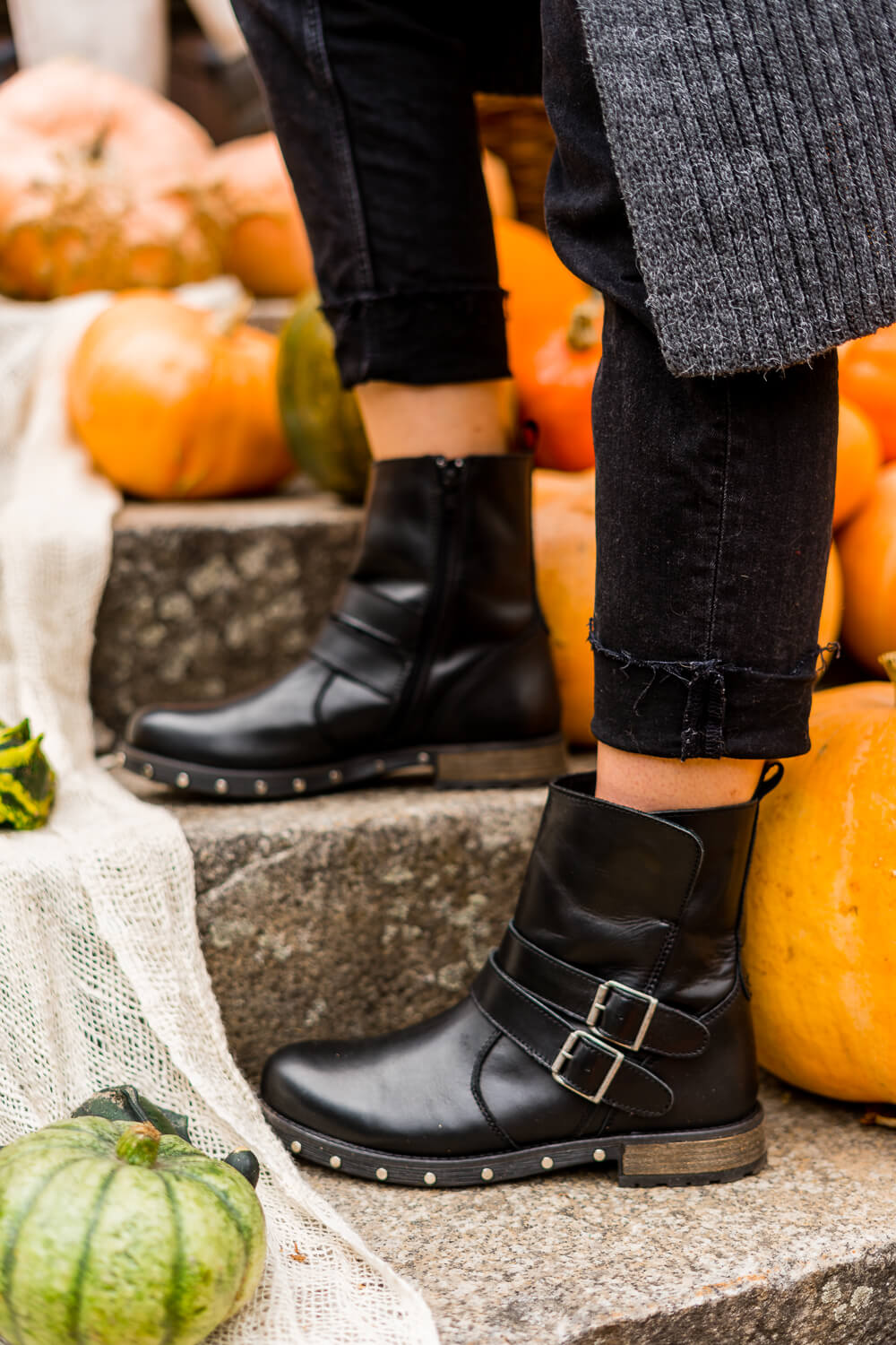 Styling mit High Waist Jeans-High Waist Skinny Jeans-Shoelove by Deichmann-Herbstoutfit Boots-Modeblog-andysparkles