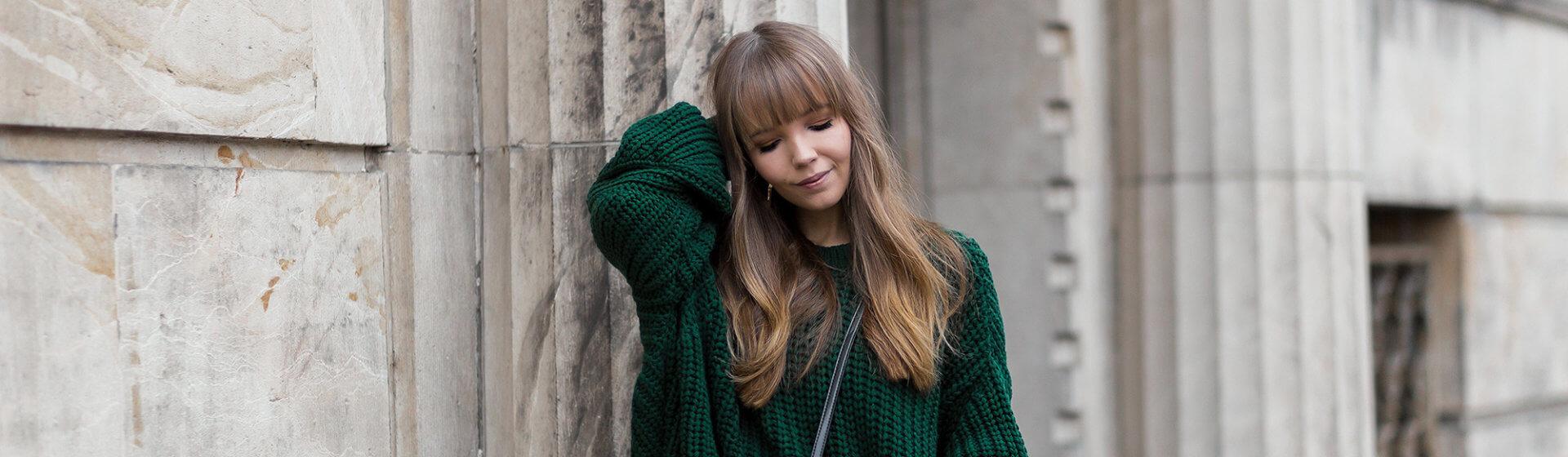 Tannengrün stylen, Trendfarbe für den Winter, Shoelove by Deichmann