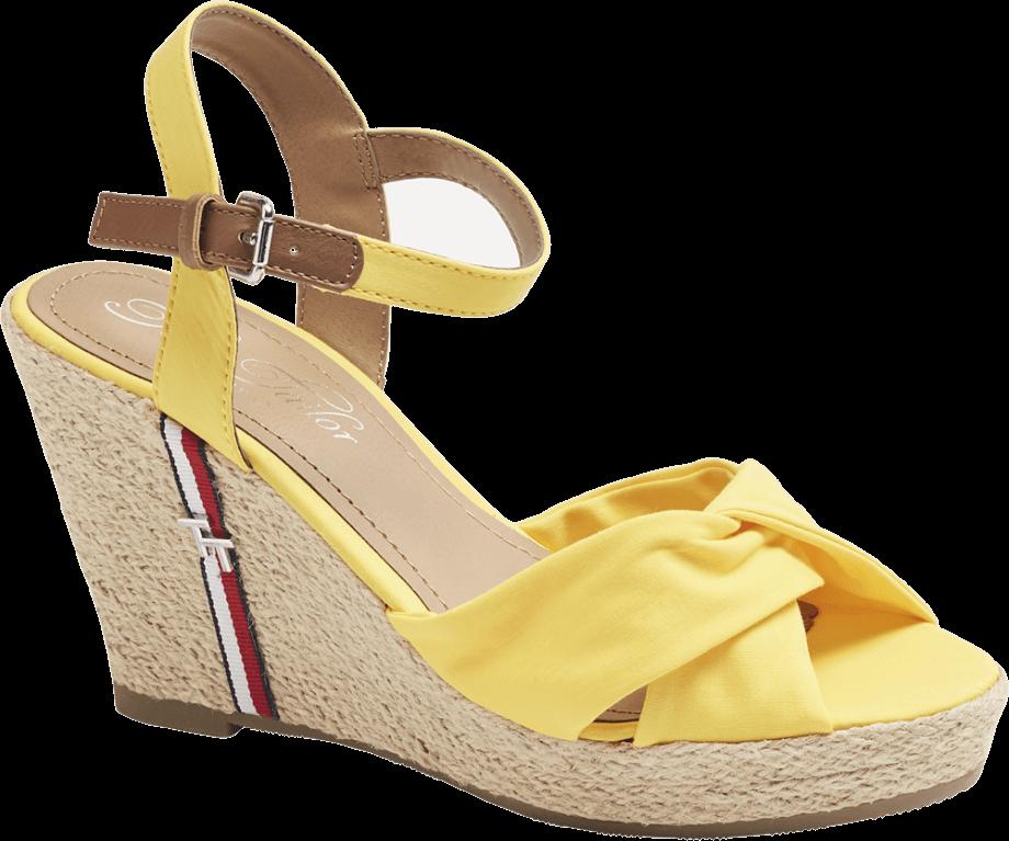 Sandalias amarillas de esparto
