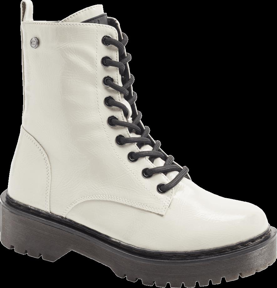 Botas estilo militar de color blanco