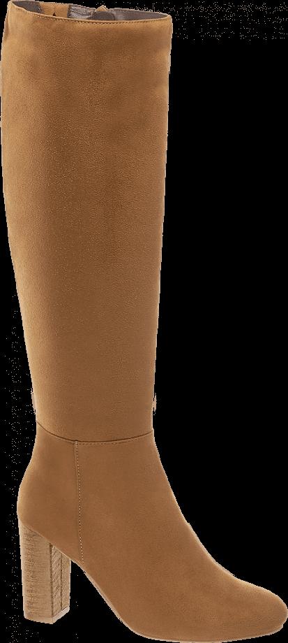 Botas altas marrones de tacón