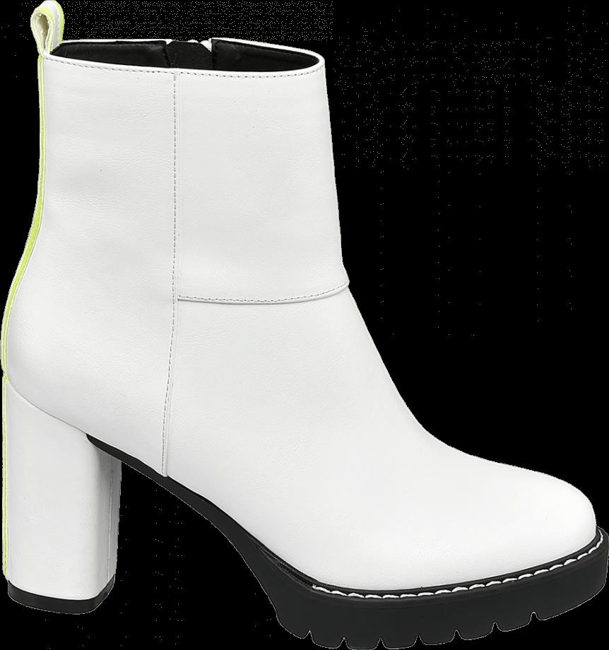 Botas blancas con tacón
