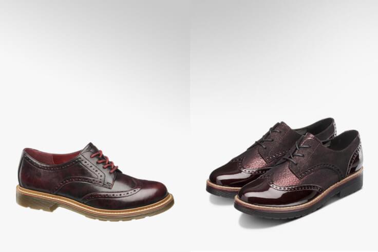 Zapato Graceland (1142123) y zapato color burdeos (1142774)