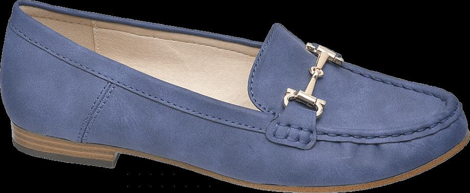 Mocasín color azul tejano