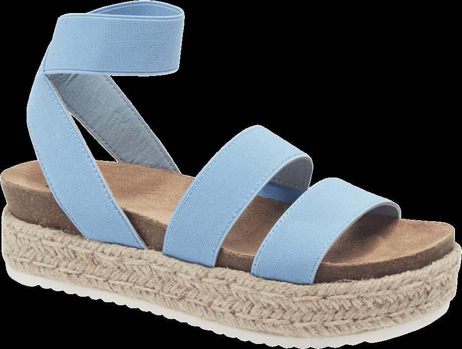 Sandalia plataforma azul