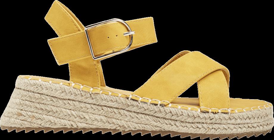 Sandalia plataforma esparto amarilla