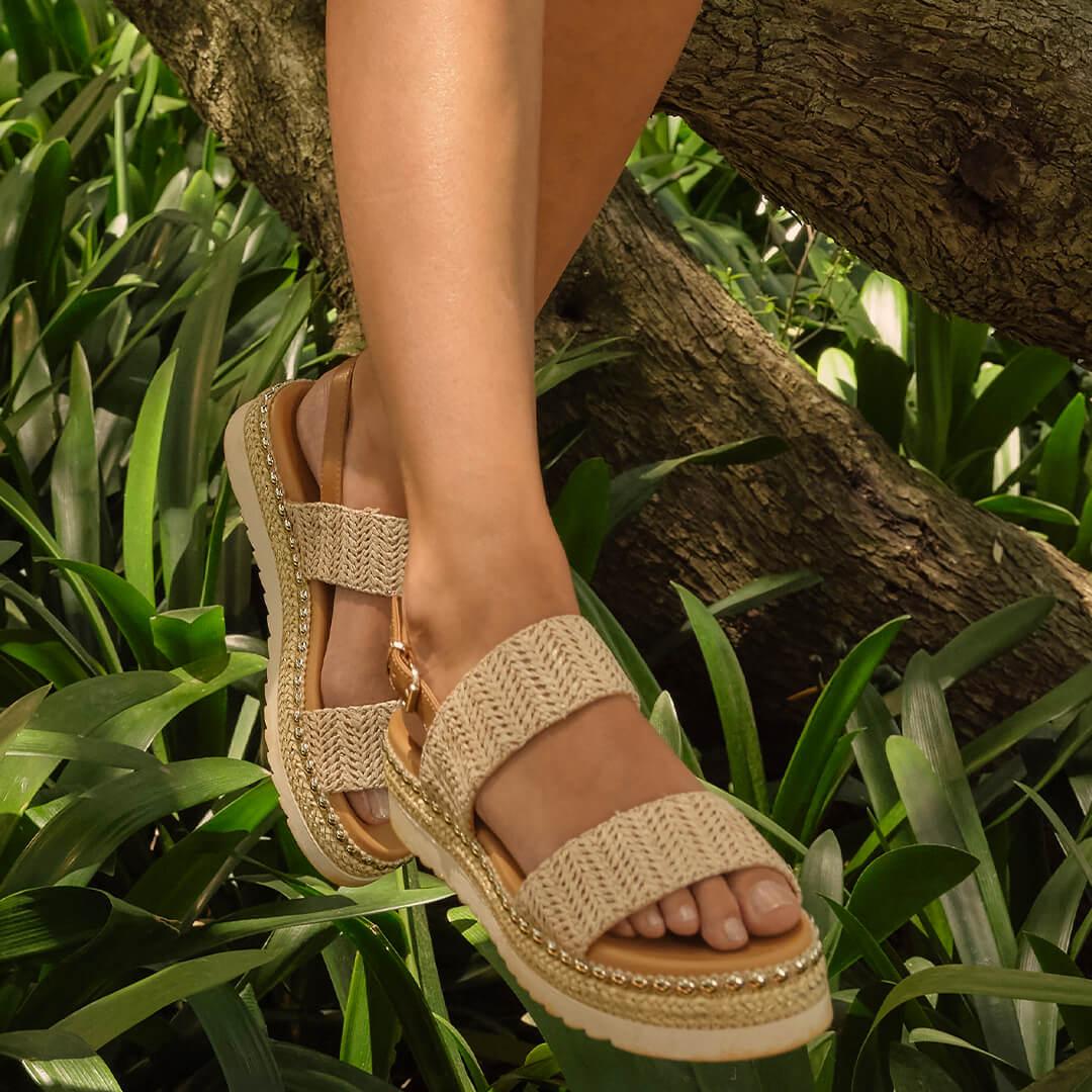 Sandalias de plataforma recta para andar largas horas al día
