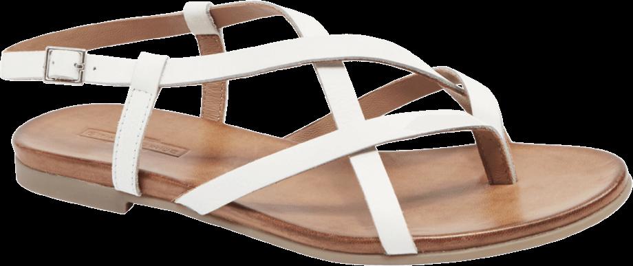 Sandalias tiras blancas