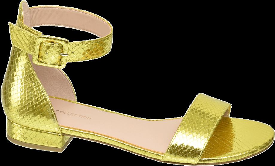 Sandalias llamativas amarillas