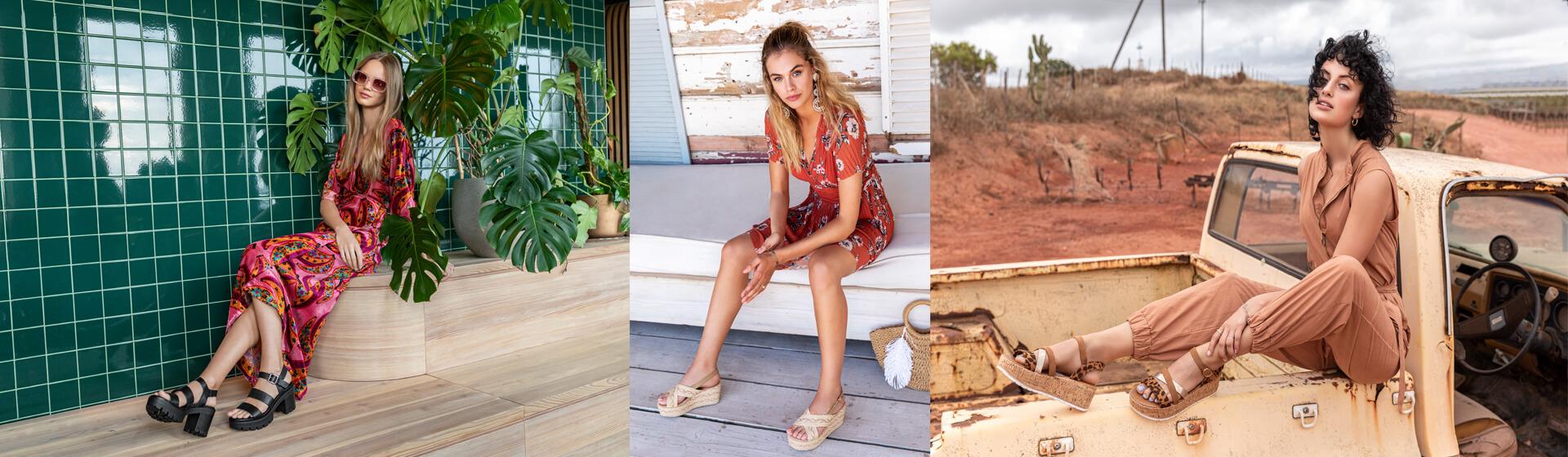 tendencias en sandalias planas con plataforma
