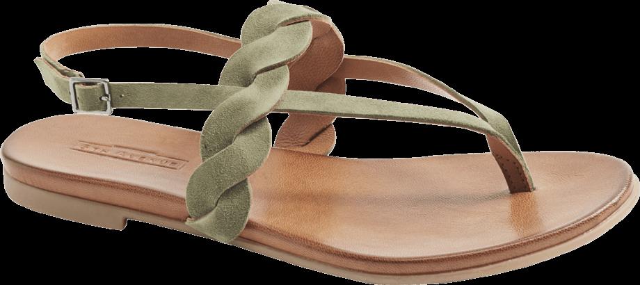 Sandalias dedo trenza verdes