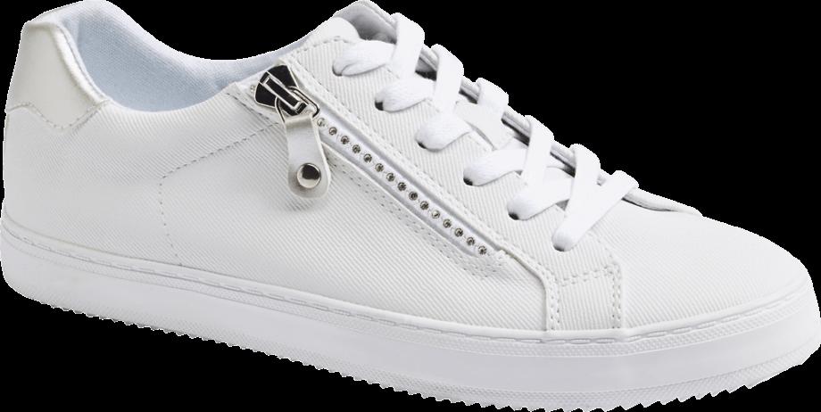 Sneaker blanca cremallera
