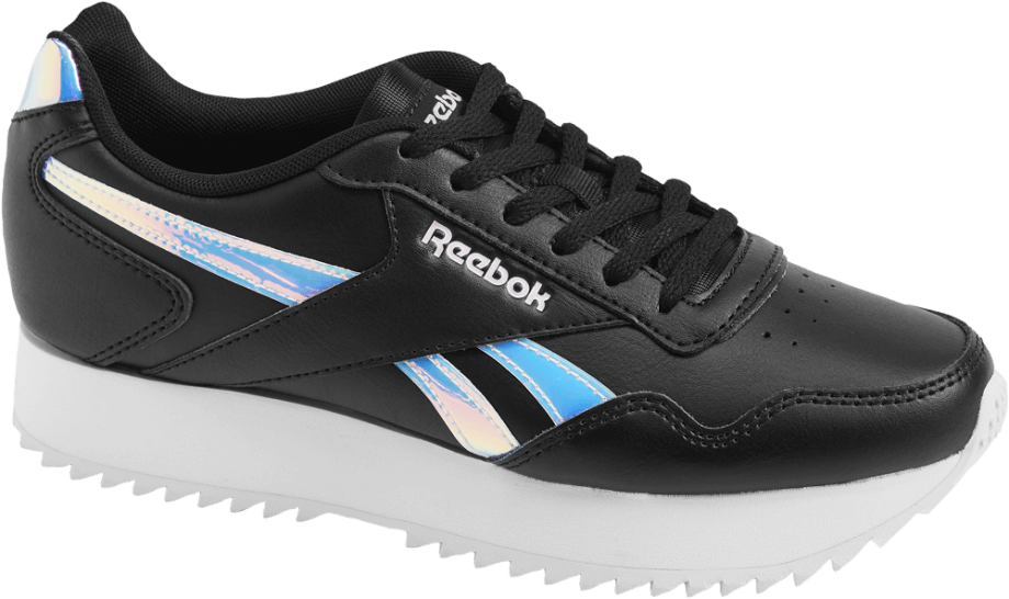 Sneakers Reebok negras con plataforma