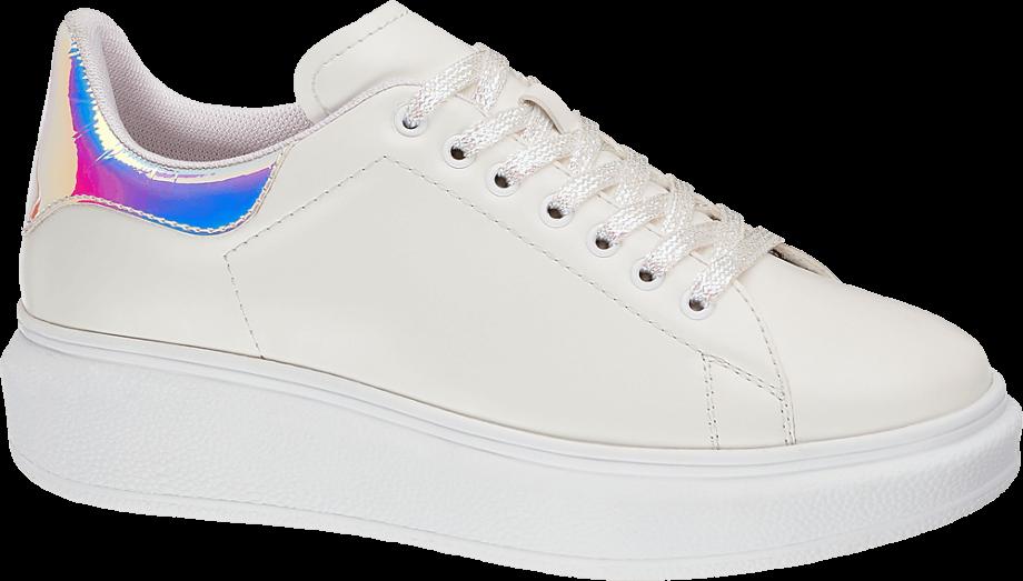 Sneakers blancas con plataforma