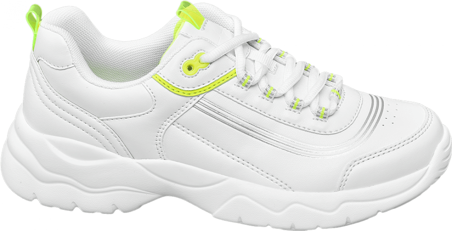 Sneakers ugly shoes detalle fluorescente