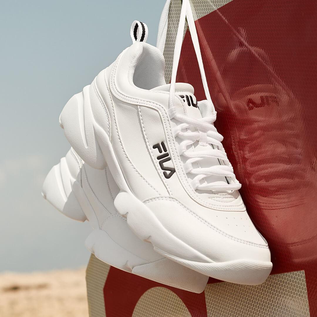 zapatillas FILA blancas para mujer