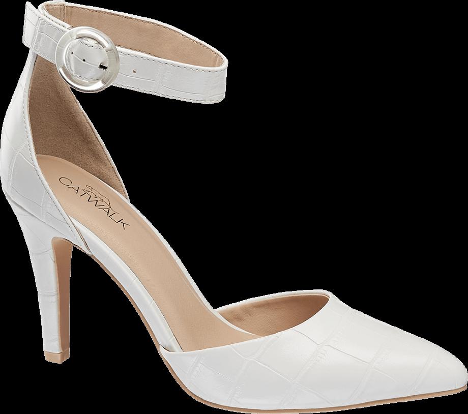 Zapatos de tacón blancos