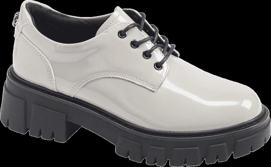 Zapato oxford con plataforma de color blanco