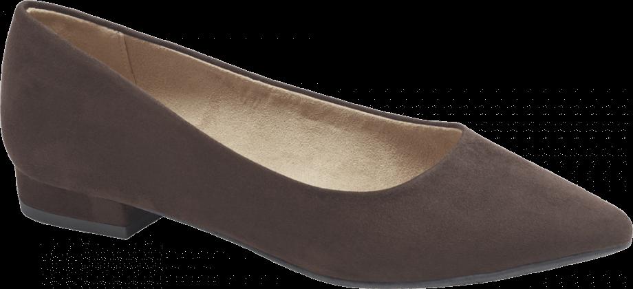 Zapato plano cerrado color xocolate