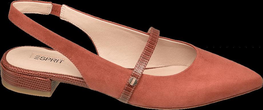 Zapato destalonado plano color naranja