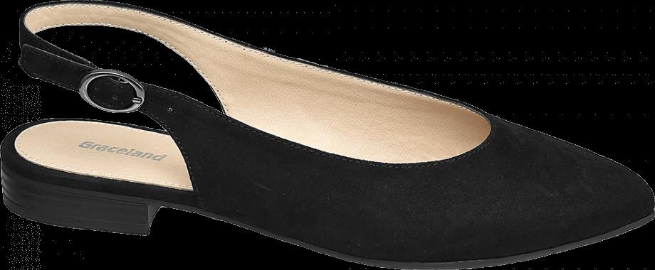 Zapato plano destalonado color negro