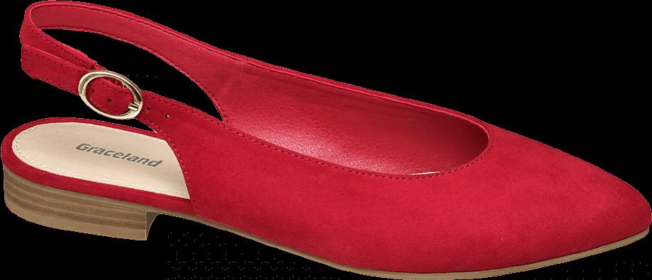 Zapato destalonado plano color rojo