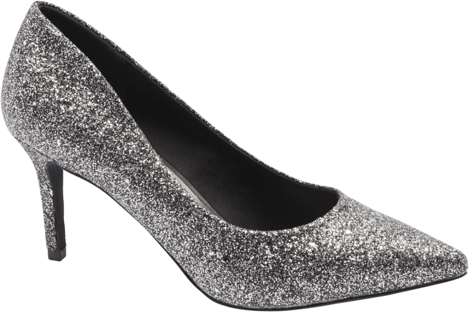 Zapato tacón brillante