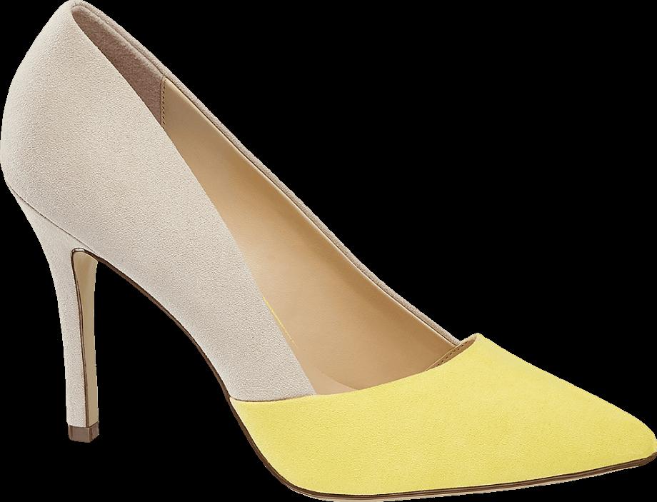 Zapato de tacón de colores pastel