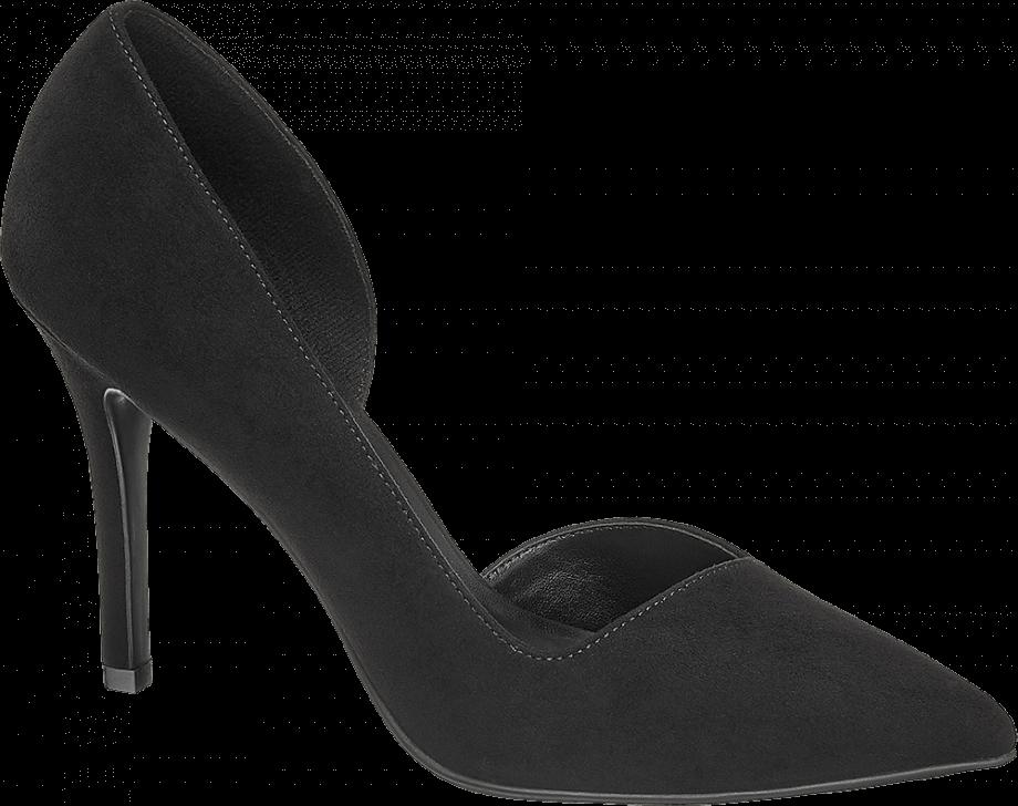 Zapato tacón fino de color negro