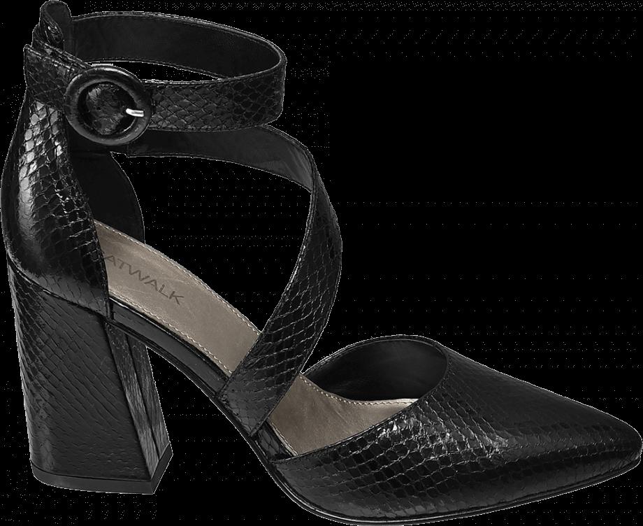 Zapato tacón grueso de color negro