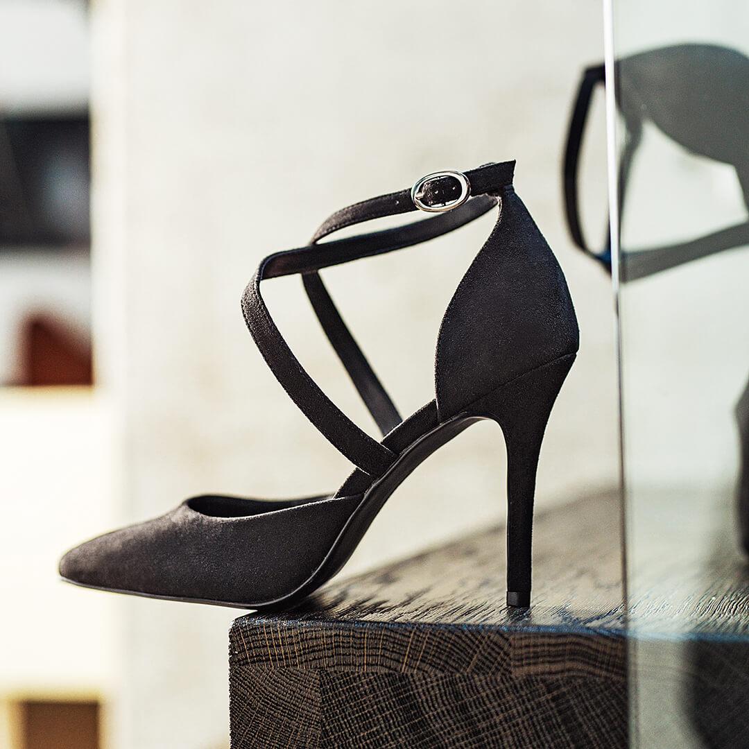zapatos de aguja para alargar las piernas