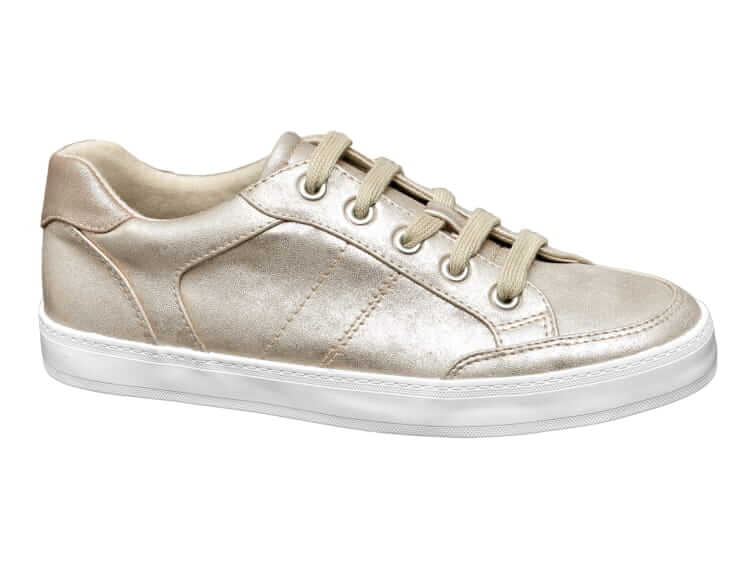 b036fd3dee3e8 Swap silver for gold with these Graceland metallic trainers, which promise  to help you stay ahead of the style pack and leave money in your pocket for  ...