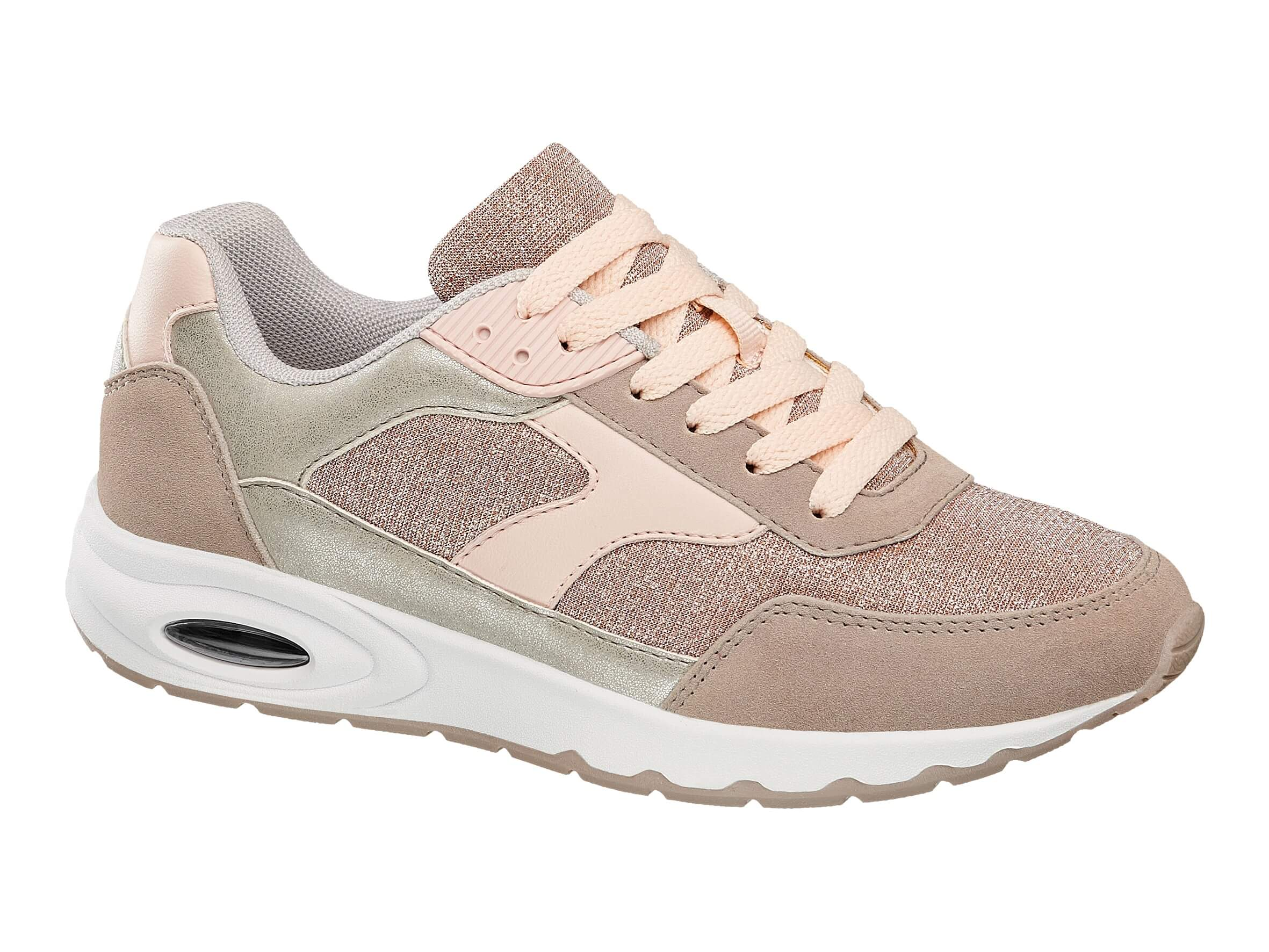 5ef2f81e9667f Add a stylish finish to your off duty vibe with a pair of rose gold  trainers. A must-have for summer, these Graceland grey and rose gold  trainers can be ...