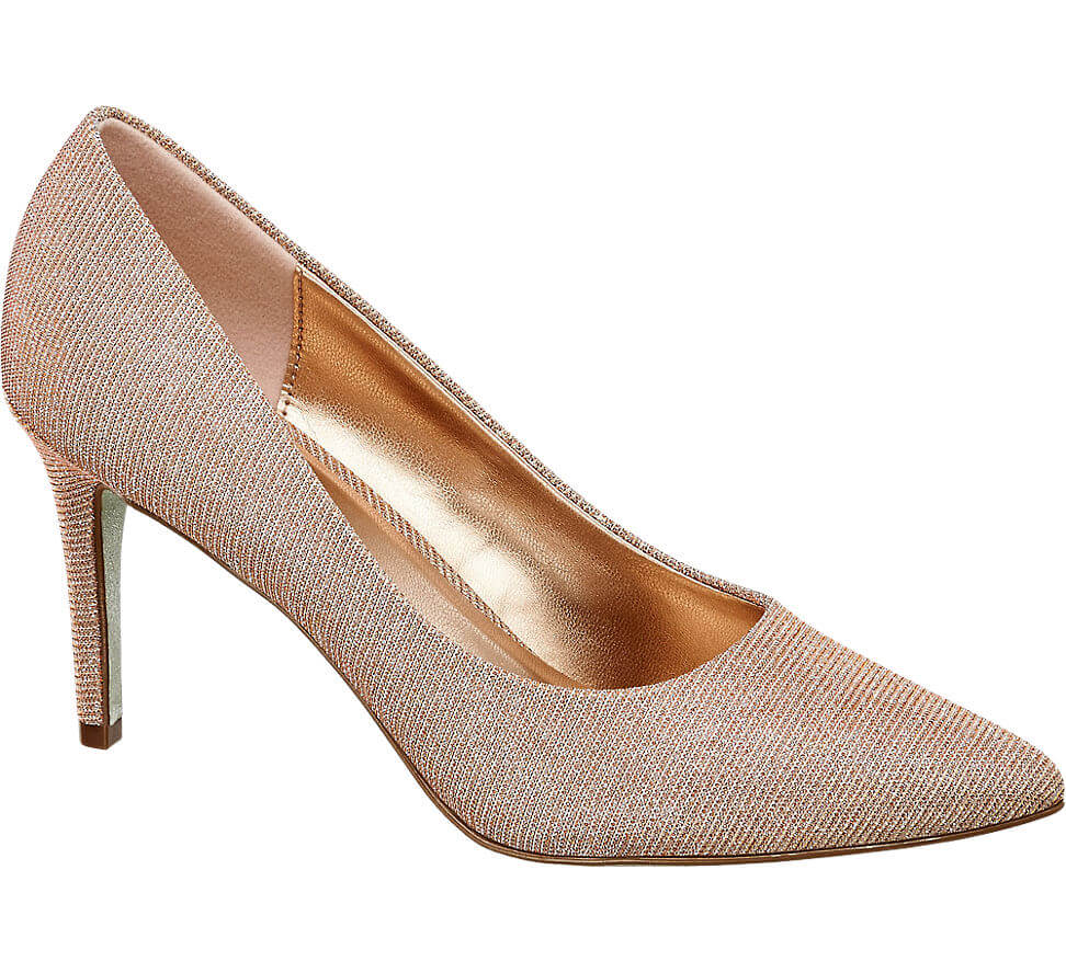 008838b1042bc Metallic gold shoes don't get more glamorous than these Catwalk heels.  Featuring a high stiletto heel, pointed toe and a lovely gold glisten, ...