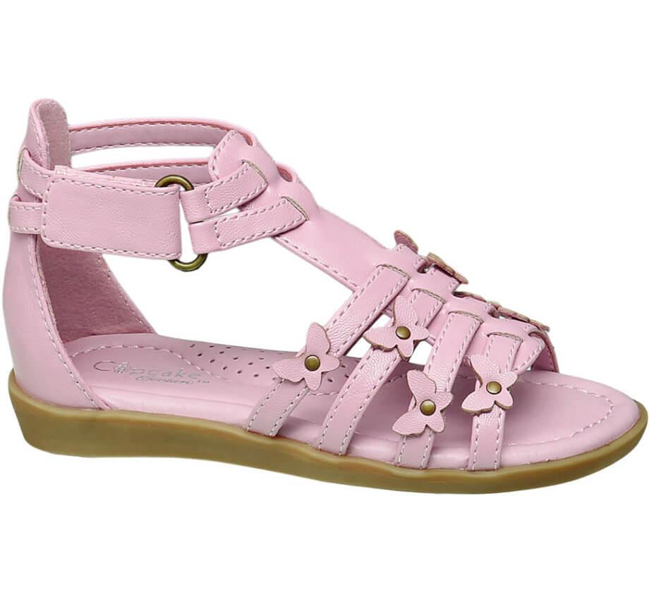 Sandali da bimba - Sandalo Cupcake rosa con piccole farfalline