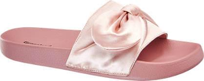 Ciabatte mare rosa con dettaglio fiocco Graceland