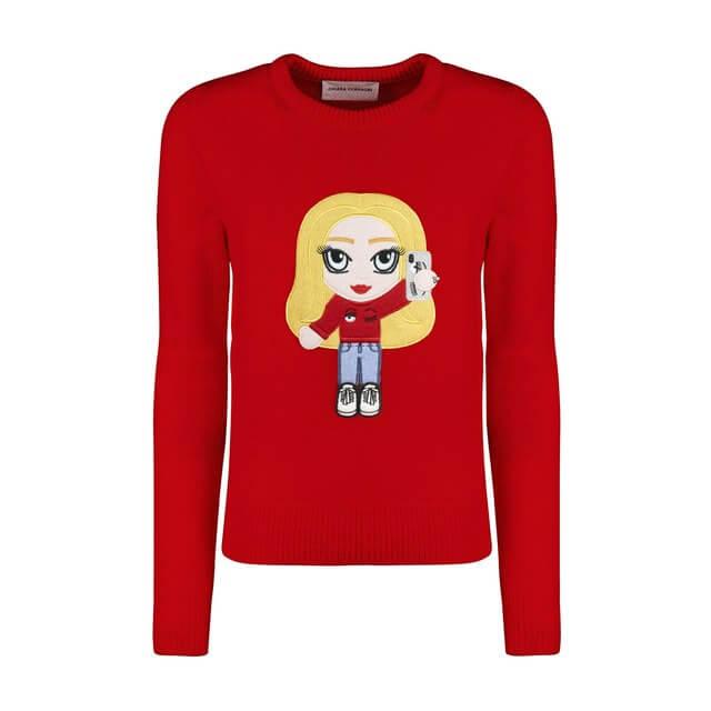 maglioni natalizi - maglione rosso selfie